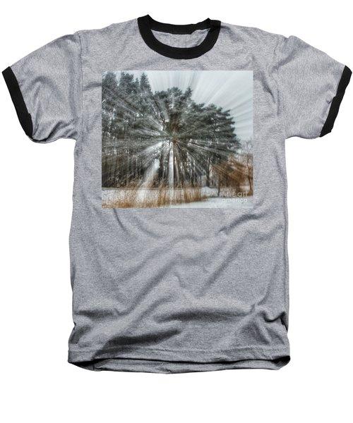 Winter Light In A Forest Baseball T-Shirt