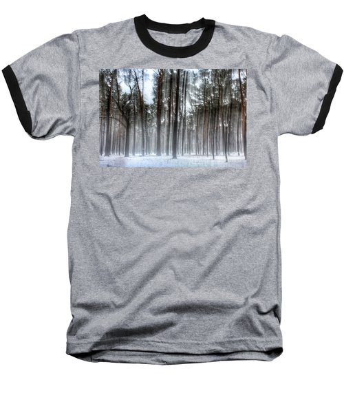 Winter Light In A Forest With Dancing Trees Baseball T-Shirt