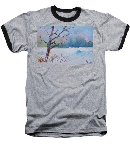 Winter Loneliness Baseball T-Shirt