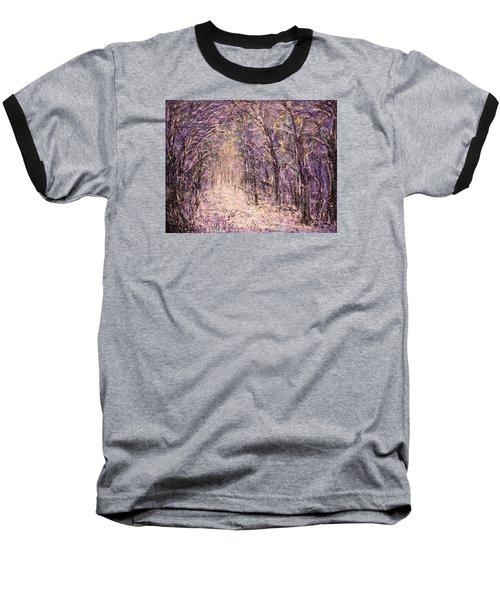 Winter Magic Baseball T-Shirt by Natalie Holland