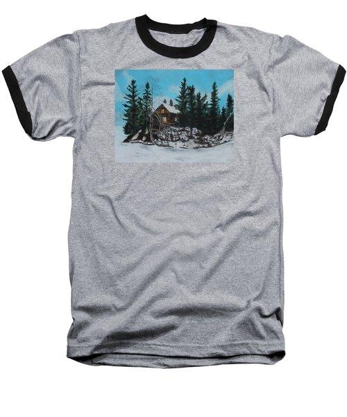 Winter Marshland Baseball T-Shirt