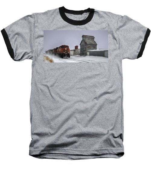 Winter Mixed Freight Through Castle Rock Baseball T-Shirt