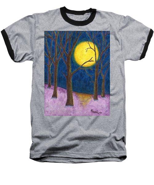 Winter Moon Baseball T-Shirt