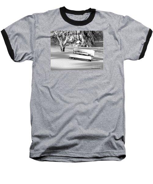 Winter Morning Baseball T-Shirt by Susan  Dimitrakopoulos
