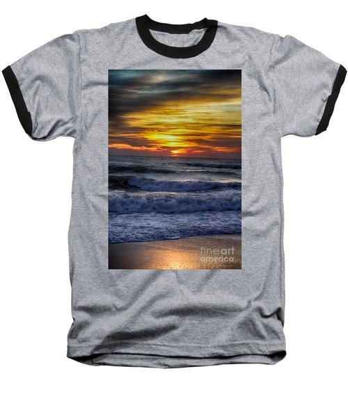 Winter North Carolina Sunrise Baseball T-Shirt
