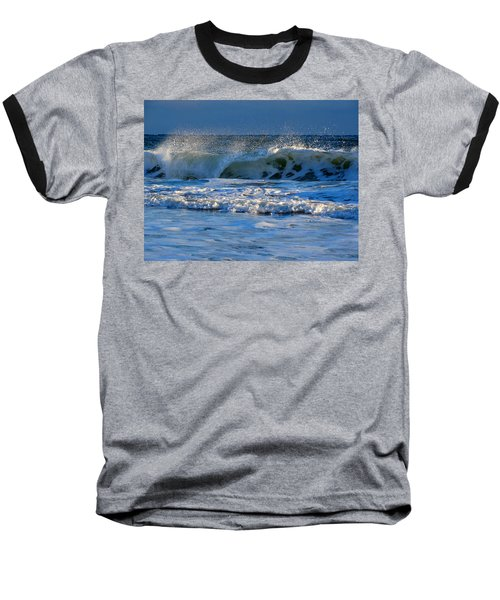 Winter Ocean At Nauset Light Beach Baseball T-Shirt