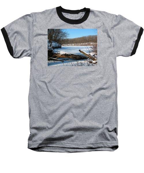 Winter On Sauk Lake 2 Baseball T-Shirt