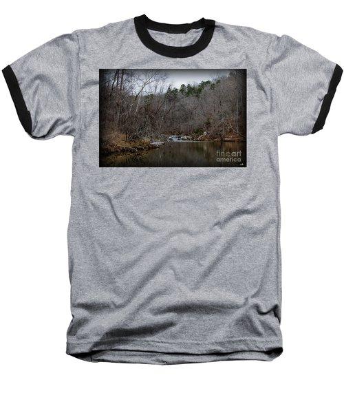Winter On The Eno River At Fews Ford Baseball T-Shirt