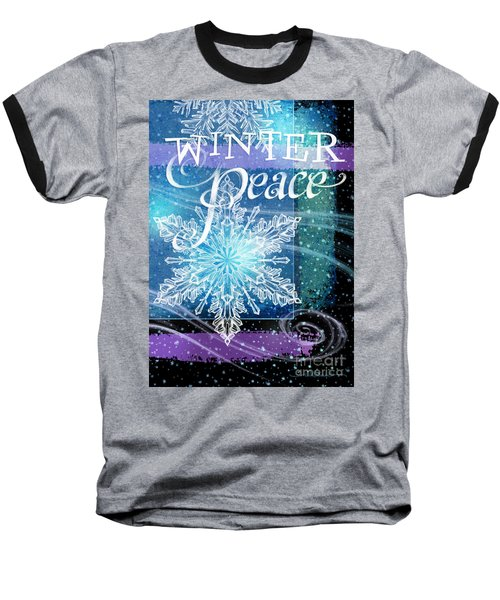 Winter Peace Greeting Baseball T-Shirt