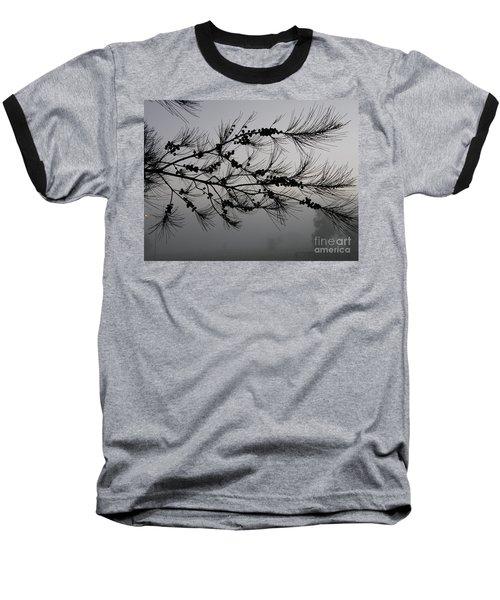 Winter Pine Branch Baseball T-Shirt