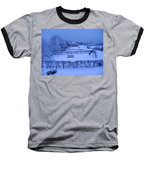 Winter Playground Baseball T-Shirt