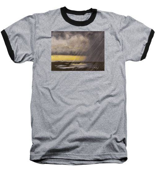 Winter Rain Baseball T-Shirt by Jack Malloch