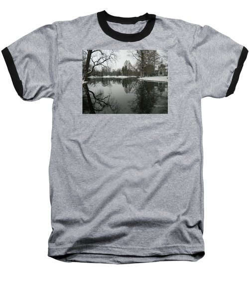 Baseball T-Shirt featuring the photograph Winter Reflections 2 by Kathy Barney
