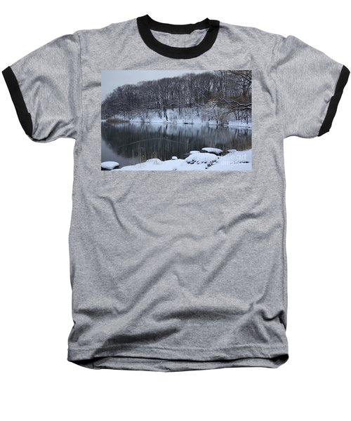 Baseball T-Shirt featuring the photograph Winter Reflections by Dora Sofia Caputo Photographic Art and Design