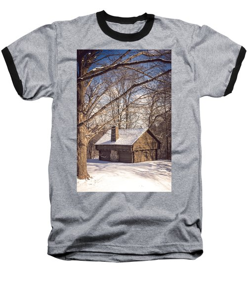 Winter Retreat Baseball T-Shirt by Sara Frank