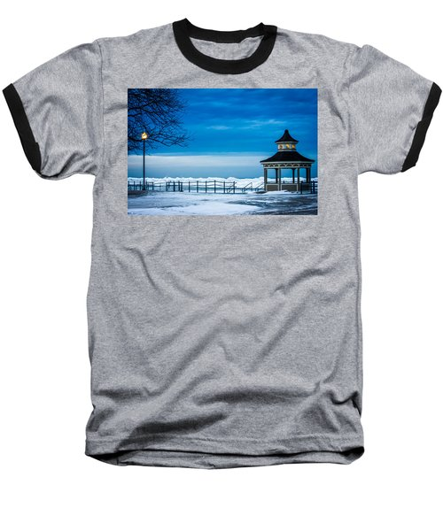 Winter Rhapsody Baseball T-Shirt by Sara Frank