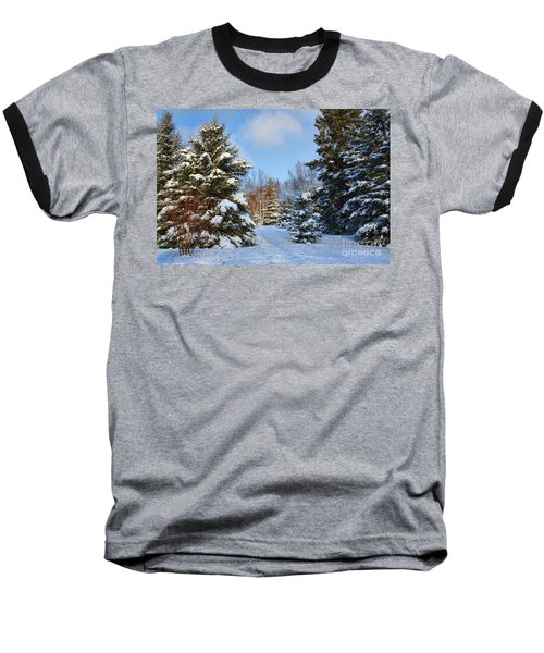 Baseball T-Shirt featuring the photograph Winter Scenery by Teresa Zieba