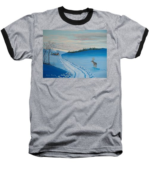 Winter Sentinel Baseball T-Shirt by Norm Starks