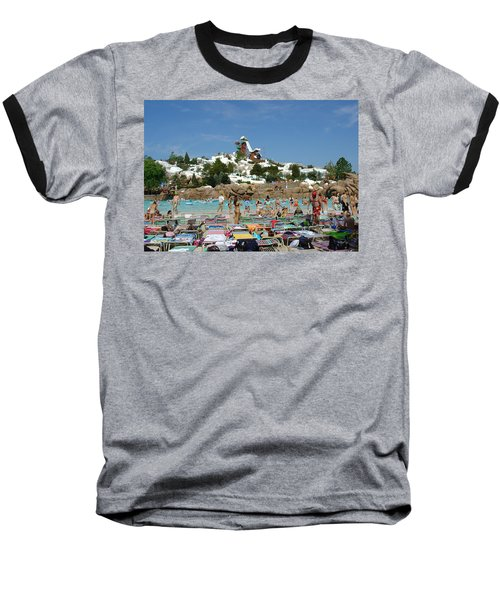 Baseball T-Shirt featuring the photograph Winter Shore Line by David Nicholls