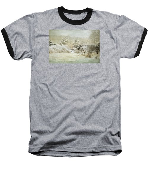 Baseball T-Shirt featuring the photograph Winter Silence by Julie Palencia
