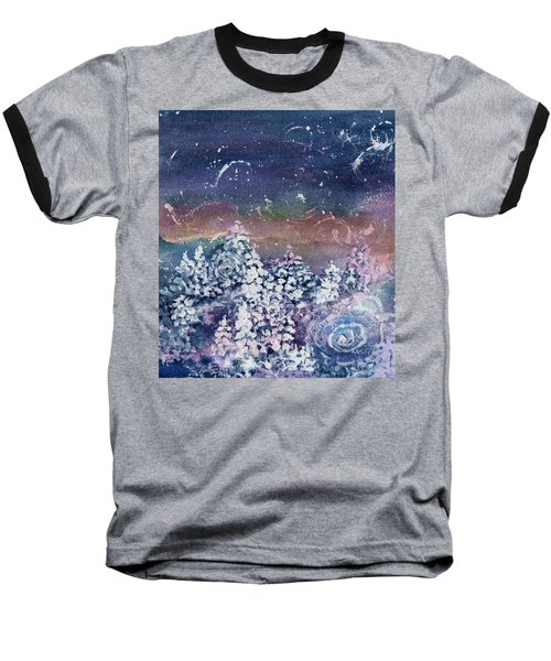 Baseball T-Shirt featuring the painting Winter Solstice  by Kathy Bassett