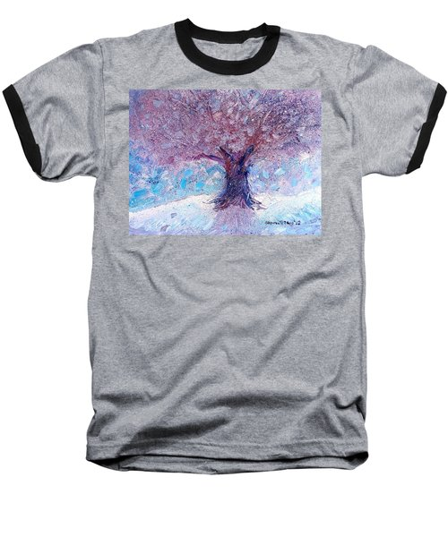 Winter Solstice Baseball T-Shirt by Shana Rowe Jackson
