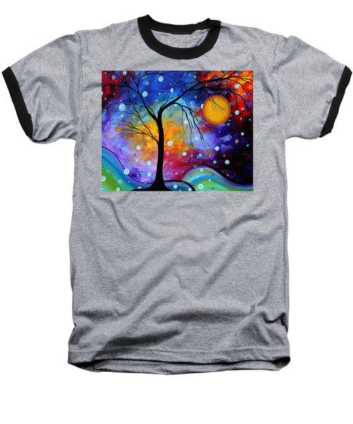 Winter Sparkle Original Madart Painting Baseball T-Shirt