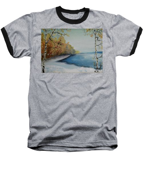 Winter Starts At Kymi River Baseball T-Shirt