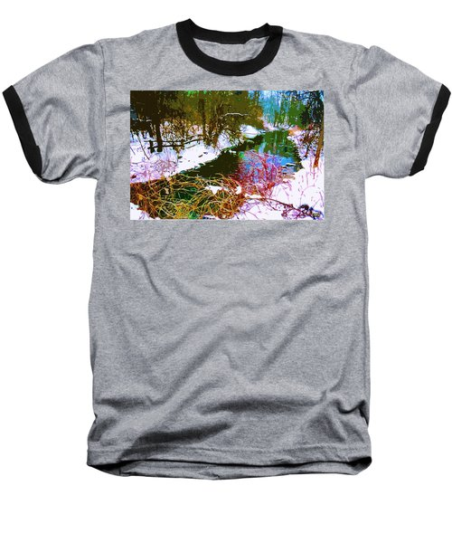 Winter Stream Baseball T-Shirt