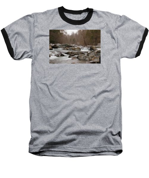 Baseball T-Shirt featuring the photograph Winter Stream by Geraldine DeBoer