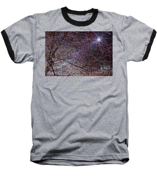 Winter Sun Baseball T-Shirt by Tom Culver