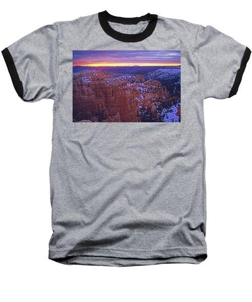 Winter Sunrise At Bryce Canyon Baseball T-Shirt