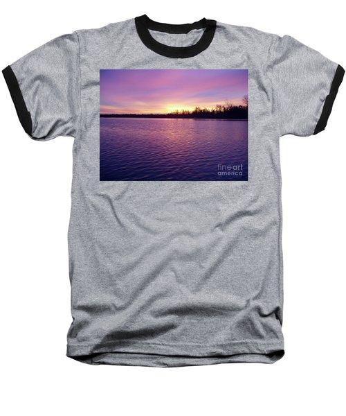 Winter Sunrise Baseball T-Shirt by John Telfer