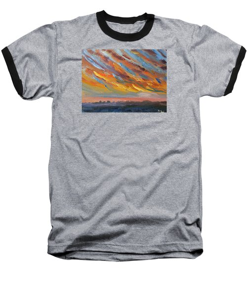 Winter Sunrise Over Provincetown Baseball T-Shirt