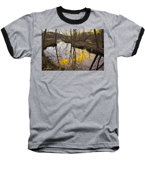 Baseball T-Shirt featuring the photograph Winter Sunset At Williston Mill by Brian Wallace