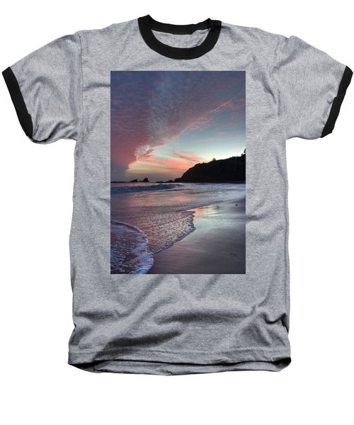 Winter Sunset Crescent Bay Baseball T-Shirt