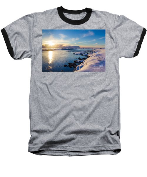 Winter Sunset In Iceland Baseball T-Shirt