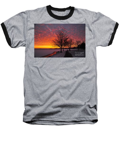 Baseball T-Shirt featuring the photograph Winter Sunset by Terri Gostola