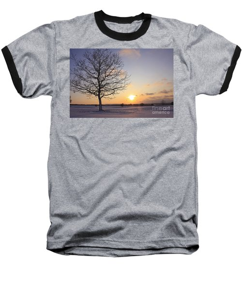 Winter Sunset Uk Baseball T-Shirt