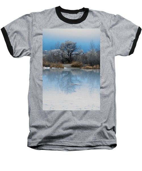 Winter Taking Hold Baseball T-Shirt by Fran Riley
