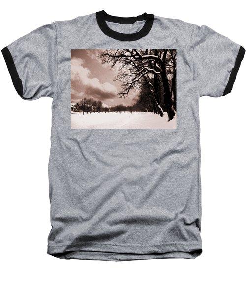 Baseball T-Shirt featuring the photograph Winter Tale by Nina Ficur Feenan