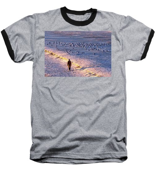 Baseball T-Shirt featuring the photograph Winter Time At The Beach by Cynthia Guinn