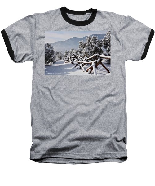 Winter Trail Beckons Baseball T-Shirt by Diane Alexander