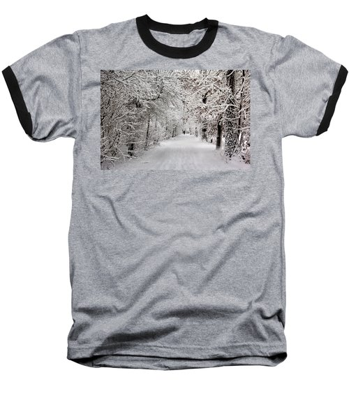 Winter Walk In Fairytale  Baseball T-Shirt