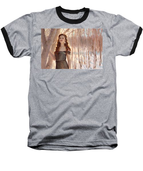 Winter Warmth - Figure In The Landscape Baseball T-Shirt