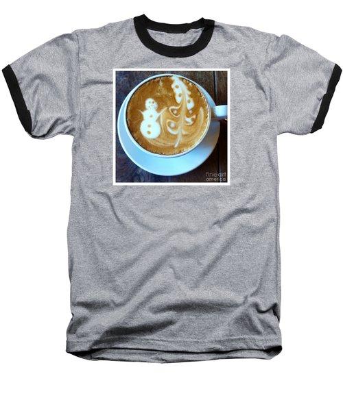 Winter Warmth Latte Baseball T-Shirt by Susan Garren