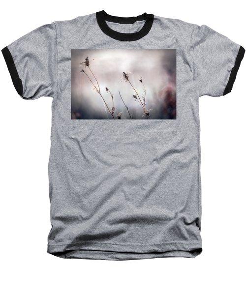 Baseball T-Shirt featuring the photograph Winter Wild Flowers by Sennie Pierson