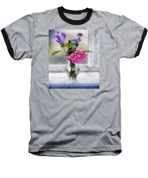 Winter Windowsill Baseball T-Shirt