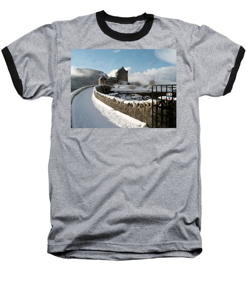 Winter Wonder Walkway Baseball T-Shirt by Bruce Nutting