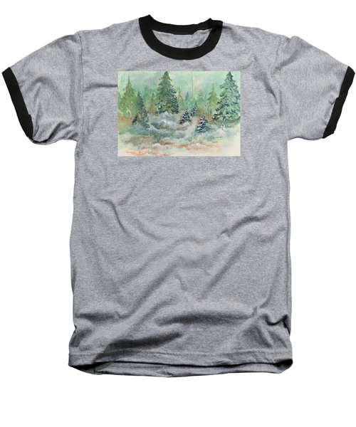 Winter Wonderland Baseball T-Shirt by Lee Beuther